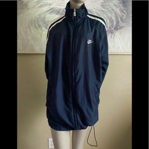 2000s Nike Zip Up Navy Blue Track Jacket size L